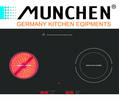 Bếp điện kết hợp từ Munchen MDT2